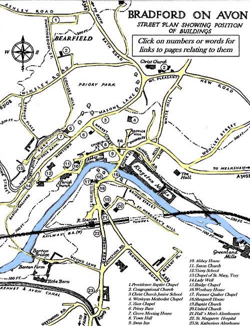 Bradford on Avon Old Maps of Town